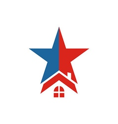 America usa logo star house icon vector