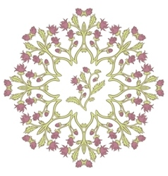 Beautiful vintage ornament of a greeting card vector image