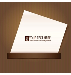 Blank sheet of paper background vector image