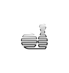 bowling icon black line symbol vector image
