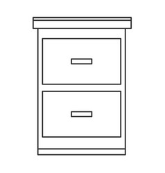 Cabinet files paper documents outline vector