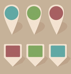 cardboard icons isolated on beige vector image