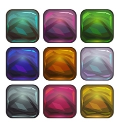 Cartoon app icon backgrounds set vector