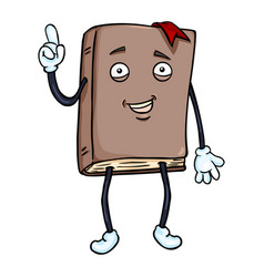 Cartoon character - lively brown book vector
