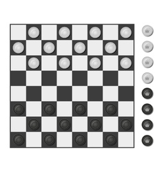 Checkers board game vector image