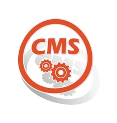CMS settings sign sticker orange vector
