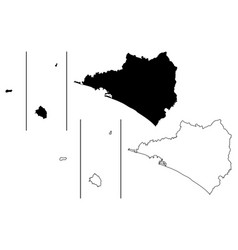 colima map vector image