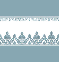 Damask border element and page decoration vector