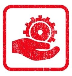 Development Service Icon Rubber Stamp vector