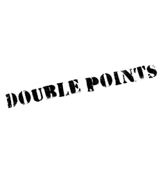 Double Points rubber stamp vector image