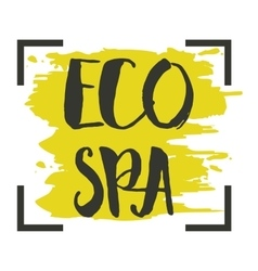Eco SPA hand drawn isolated label vector image