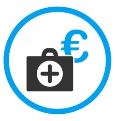 Euro Medical Payment Rounded Icon vector