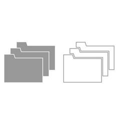 folders it is black icon vector image