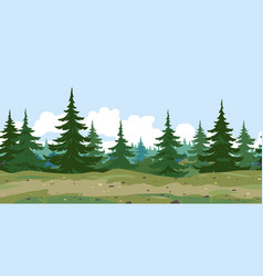 Forest trail game background vector