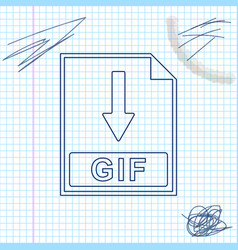 Gif file document icon download gif button line vector