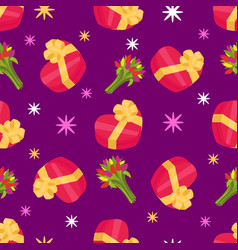 gift boxes seamless pattern pattern a box vector image