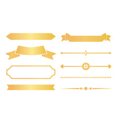 Gold ribbons and decor for special certificates vector