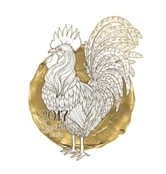 Graphic decorative rooster vector