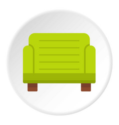 Green armchair icon circle vector