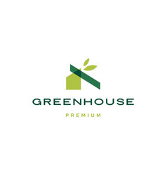 Green house leaf rologo icon vector