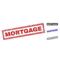 grunge mortgage textured rectangle watermarks vector image