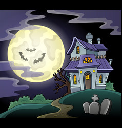 Haunted house theme image 2 vector