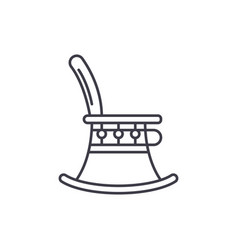high chair line icon concept high chair vector image