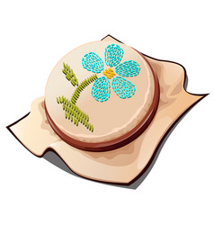 hoops for embroidery with the image of a flower vector image