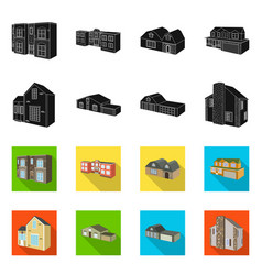 isolated object facade and housing logo vector image