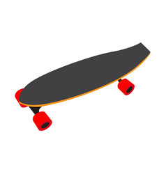 Isolated skateboard toy vector