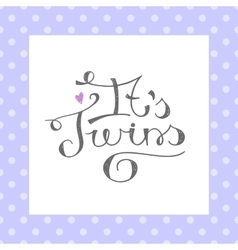 its twins text vector image