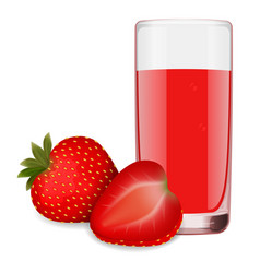 juice from ripe strawberries vector image