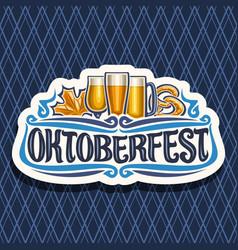 Logo for oktoberfest vector