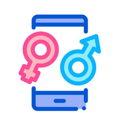 male and female compatibility icon outline vector image