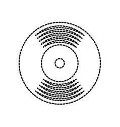 music vinyl disk record vintage cartoon vector image