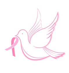 National breast cancer awareness month dove with vector
