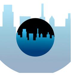 night city logo vector image