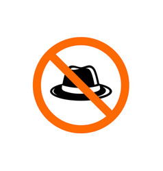 no hat forbidden hat sign prohibition symbol vector image