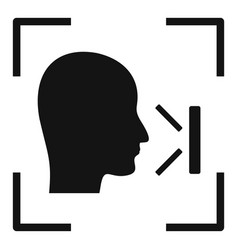Office face recognition icon simple style vector