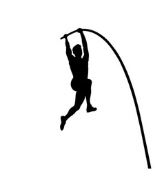 pole vault is track and field event vector image