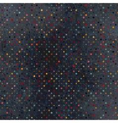 Polka dot vintage pattern vector image