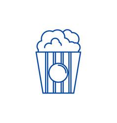 popcorn line icon concept popcorn flat vector image