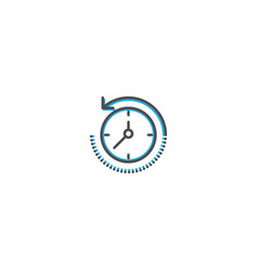 Rewind time icon line design business icon vector