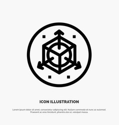 Scale modification design 3d line icon vector