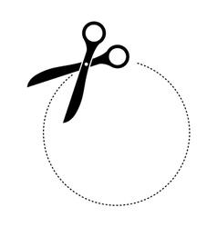 scissors cuttting icon image vector image