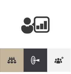 set of 4 editable community icons includes vector image