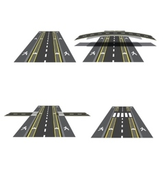 Set of different road sections with peshihodnymi vector