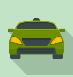 smart modern car icon flat style vector image