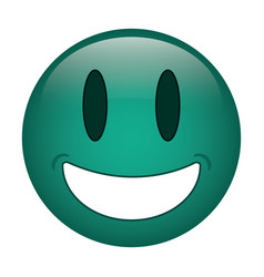 smiling thumbs emoticon style vector image
