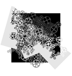 square of gear wheels vector image